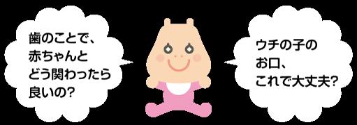 赤ちゃんと歯の関わり方